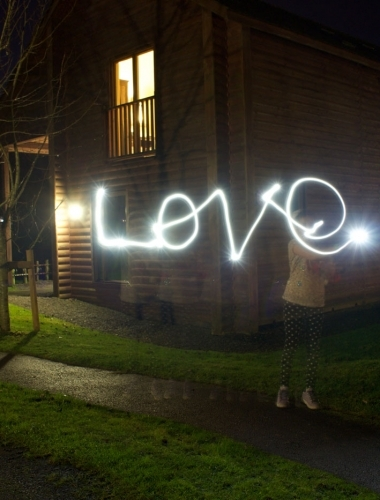 Slow shutter speed lettering