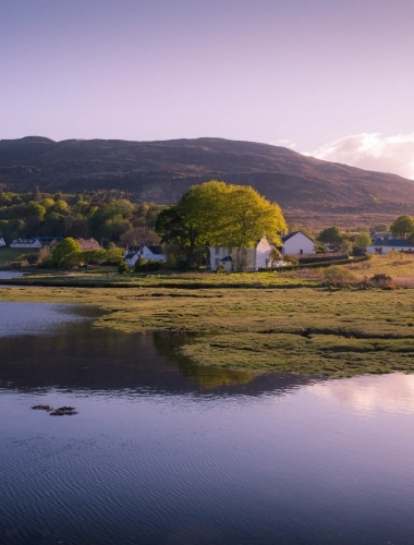 Sunset reflections, Portree, Isle of Skye, Scotland