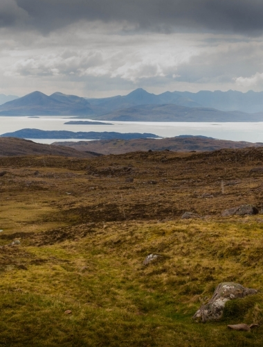 View from summit of Applecross road, Scotland
